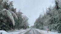 A12 kelias Kelmė-Šiauliai. nuotr. Orai ir klimatas Lietuvoje / Mindaugas Macaitis