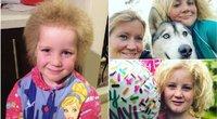 """Dešimtmetė mergaitė išmoko džiaugtis savo pasišiaušusiais """"vaikiškais plaukais"""", dėl kurių kiek primena Einšteiną (nuotr. facebook.com)"""