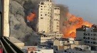 Miestuose susirėmimai tarp žydų ir palestiniečių peraugo į pogromus (nuotr. stop kadras)