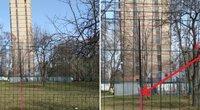 """Rusijoje gyventojai aptiko """"Pizos bokštą"""": namas – ką tik pastatytas (nuotr. VK.com)"""