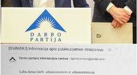 Skaitytoja pasidalino Darbo partijos išplatintais laiškais (TV3 koliažas)