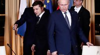 Volodymyras Zelenskis ir Vladimiras Putinas (nuotr. SCANPIX)
