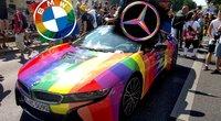 """""""Mercedes-Benz"""" ir BMW palaikymas LGBT (tv3.lt koliažas)"""