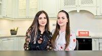 """""""Virtuvės istorijos"""" laidoje dalyvavo seserys Puzaraitės (nuotr. Organizatorių)"""