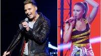 Eurovizijos atrankos filmavimas (tv3.lt fotomontažas)