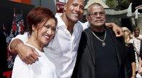 """Dwayne Johnson """"The Rock"""" su tėvu Rocky Johnson (nuotr. SCANPIX)"""