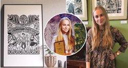 21-erių uteniškė stebina ir visko mačiusius – jos kūriniai tiesiog užburiantys