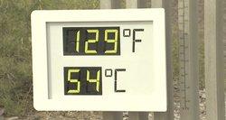 Kalifornija muša karščio rekordus: termometro stulpelis šoktelėjo iki 54 laipsnių