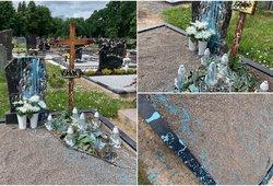 Pasvaliečių šeimą šokiravo vaizdas kapinėse: pamačius velionio kapą norėjosi verkti