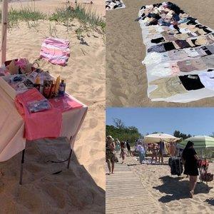 Palangos moterų pliaže nuogalės tenkina vieną aistrą