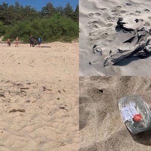 """Pasipiktino šiukšlėmis Palangos paplūdimyje: """"Eini ir bijai"""""""