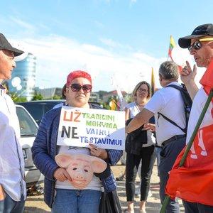 Prie Seimo ošia šeimų mitingas: parlamentarus vadina bailiais, ragina ateiti