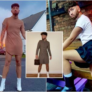 26-erių vyras vilki sukneles ir sijonus: sako, kad taip jaučiasi geriausiai