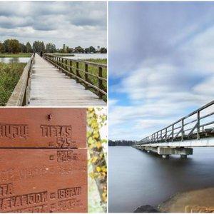 Ant Lietuvos ežero – ilgiausias pėsčiųjų tiltas šalyje: vaizdai čia atima žadą