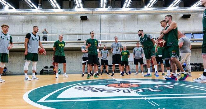 Pirmoji Lietuvos vyrų krepšinio rinktinės treniruotė