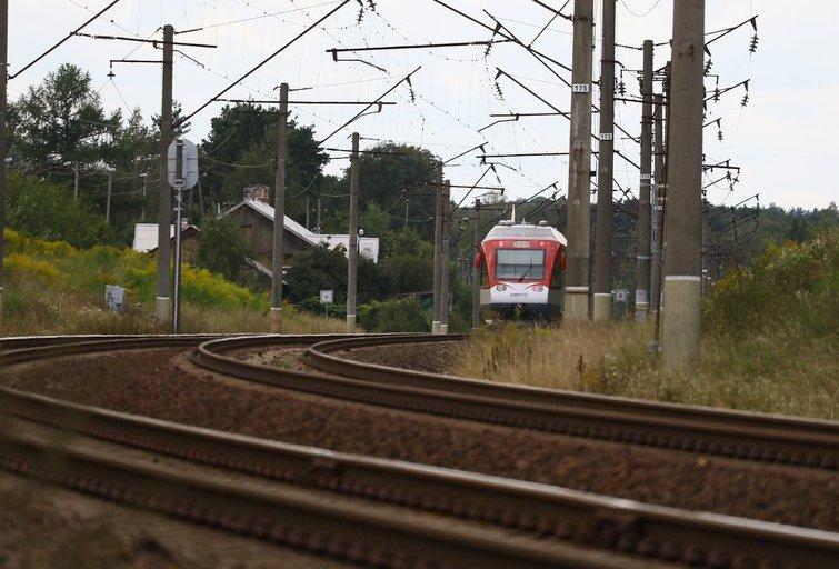 Vilniuje traukinys mirtinai partrenkė žmogų nuotr. Broniaus Jablonsko