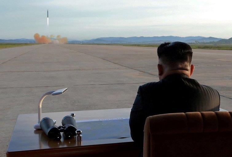 Šiaurės Korėjos raketos bandymai (nuotr. Scanpix)