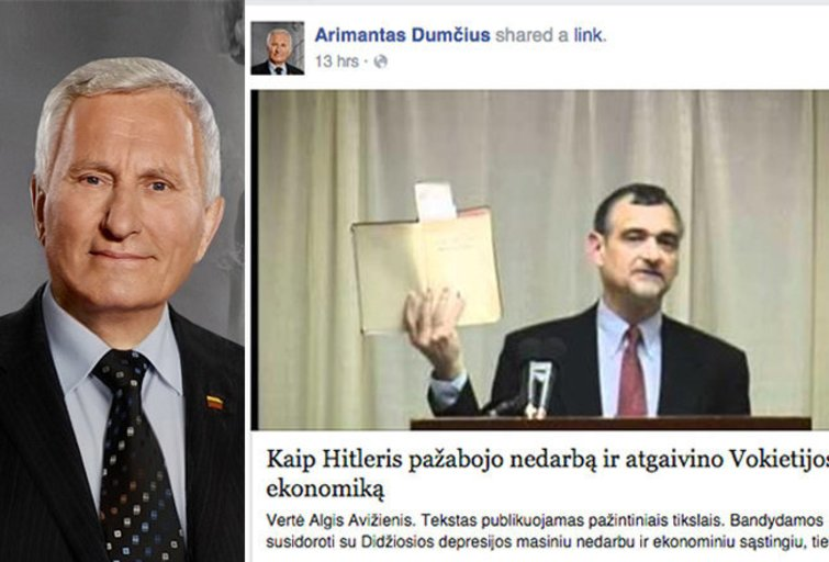 Arimanto Dumčiaus veikla feisbuke (nuotr. facebook.com)