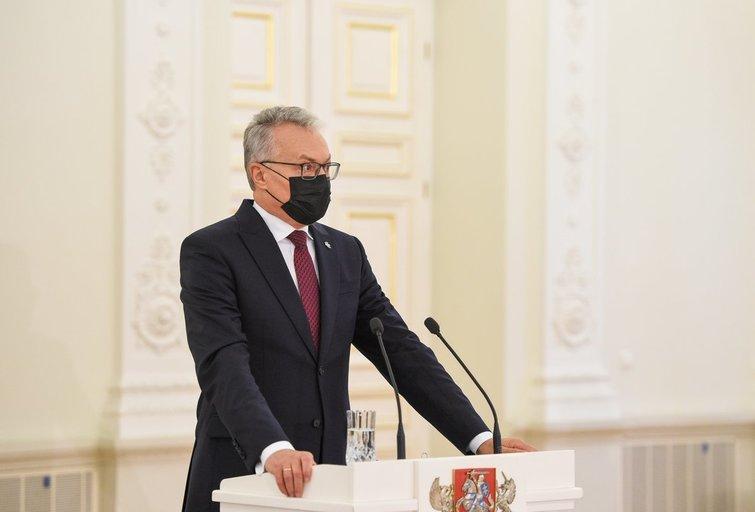 Prezidento Gitano Nausėdos spaudos konferencija (nuotr. Roberto Dačkaus)