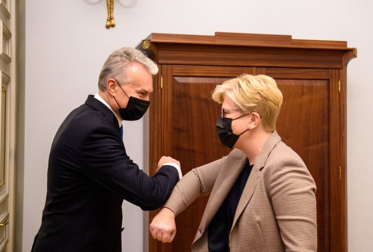 Gitanas Nausėda. Ingrida Šimonytė (nuotr. Roberto Dačkaus)