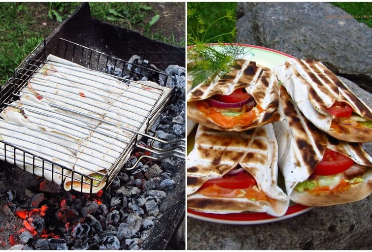Kebabai ant laužo (Nuotr. Ritos receptai)