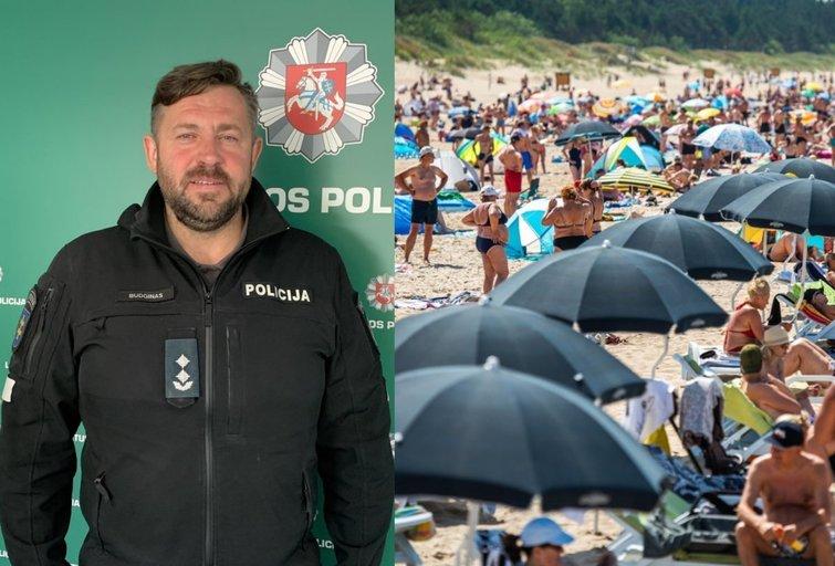 Palangos policijos vadas papasakojo, kokių klaidų čia atvykus geriau nedaryti (nuotr. TV3)