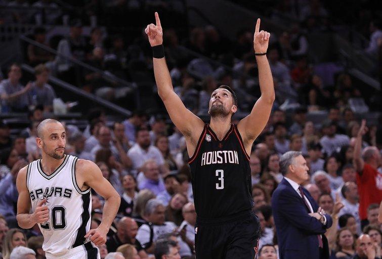 """San Antonijo """"Spurs"""" – Hiustono """"Rockets"""" 99:126 (nuotr. SCANPIX)"""