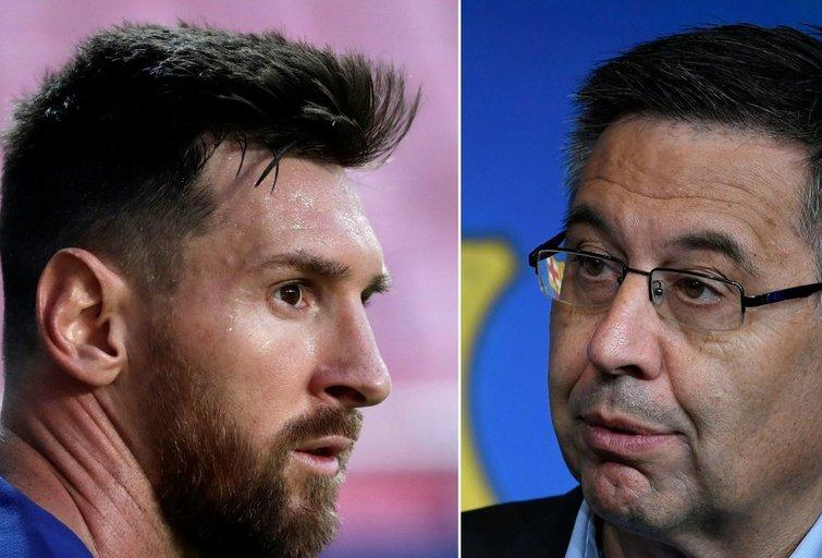 L. Messi ir J. Bartomeu (nuotr. SCANPIX)