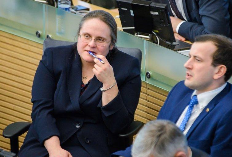Agnė Širinskienė ir Virginijus Sinkevičius (nuotr. Eimanto Genio)