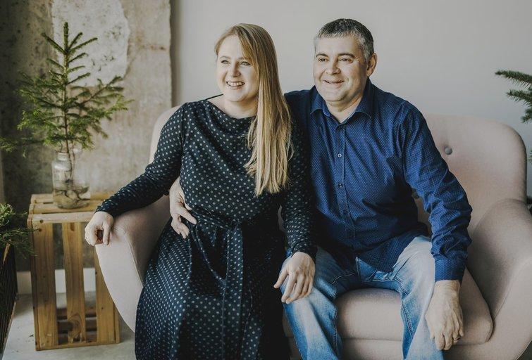 Egidijus Šliaužys su žmona. (nuotr. asm. archyvo)