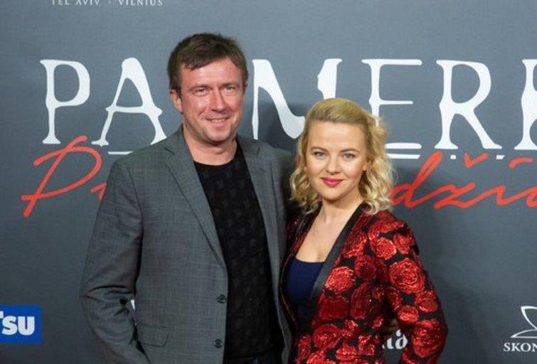 Marius Jampolskis su žmona Renata (Fotobankas)