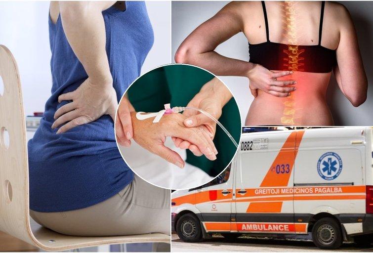 Nugaros skausmai  (tv3.lt fotomontažas)