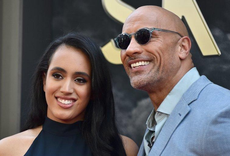 Dwayne'as Johnsonas ir Simone Alexandra Johnson (nuotr. Vida Press)