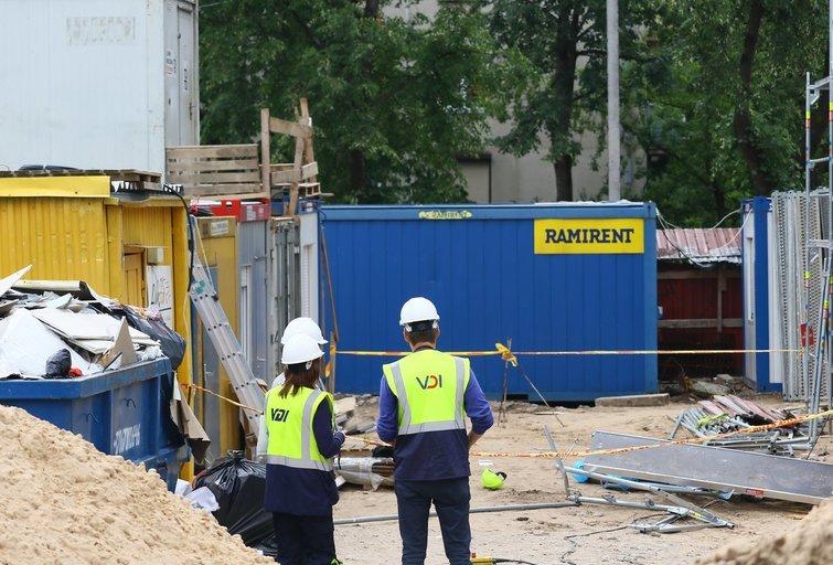 Statybvietėje Vilniuje nukritęs nuo pastolių žuvo žmogus (asociatyvi nuotr.) (nuotr. Broniaus Jablonsko)