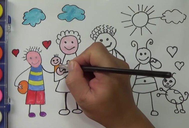 Vaiko piešinys  (nuotr. YouTube)