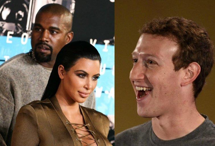 K. Westas, K. Kardashian-West, M. Zuckerbergas (nuotr. tv3.lt fotomontažas)