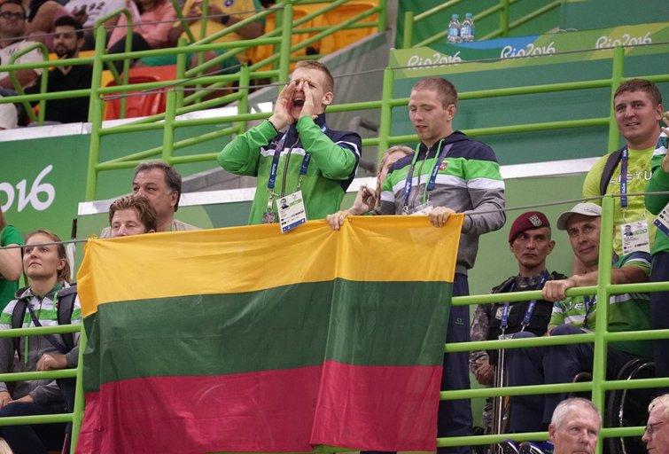 Lietuvos vyrų golbolo rinktinė – olimpinė čempionė! (Rimanto Navicko/RGB pictures nuotr.)  (nuotr. Organizatorių)
