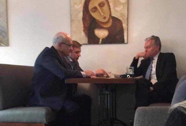 R. Karbauskis, S. Jakeliūnas, G. Nauseda (Facebook nuotr.)