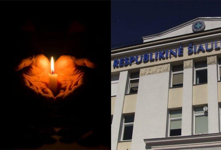 Mirus Šiaulių medikei aistros nerimsta: ligoninėje neleidžia padėti jos nuotraukos, uždegti žvakės (tv3.lt fotomontažas)
