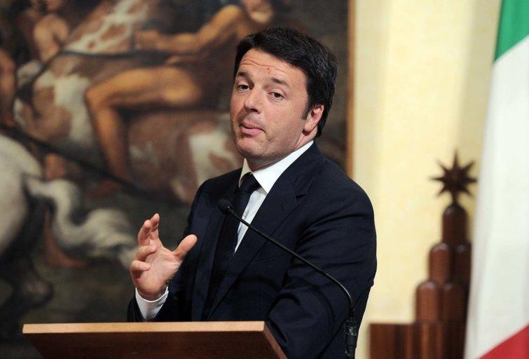 Italijos ministras pirmininkas Matteo Renzi  (nuotr. SCANPIX)