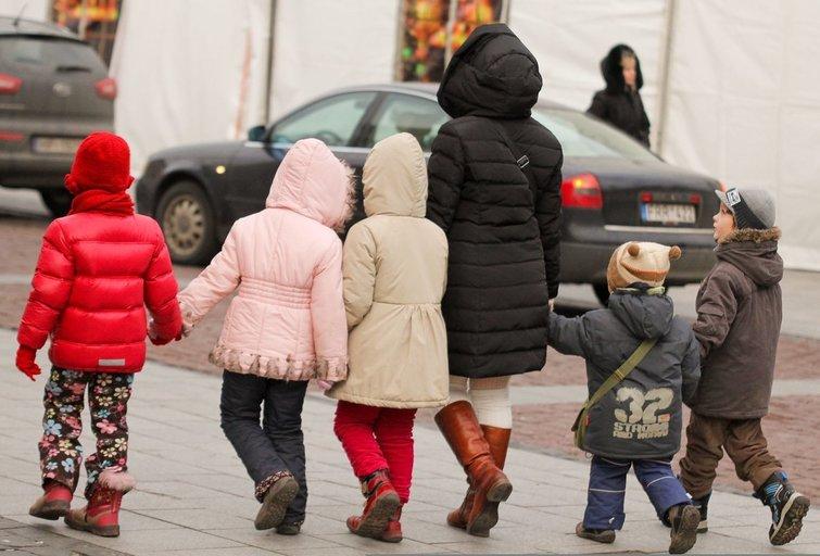 Mama ir vaikai (nuotr. Fotodiena.lt)