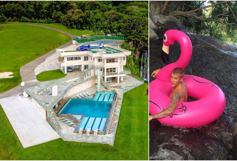 Vila, kurią atostogoms Havajuose išsinuomavo Justinas Bieberis (nuotr. VidaPress ir Instagram)