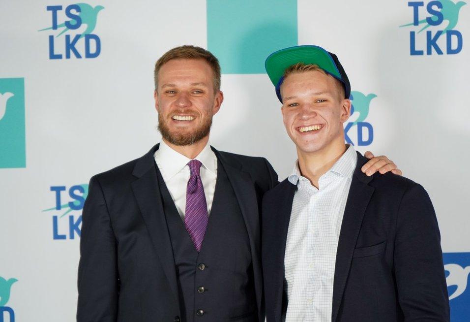 Gabrielius Landsbergis su sūnumi