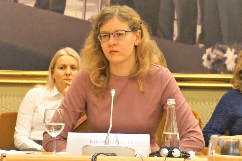 """""""Sodros"""" Statistikos, analizės ir prognozės skyriaus patarėja Kristina Zitikytė. Aurelijos Babinskienės nuotr."""