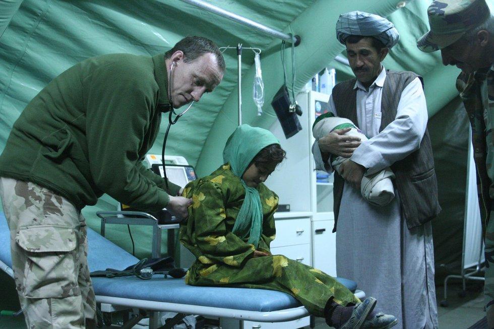 Gydytojas Vilius Kočiubaitis Afganistane