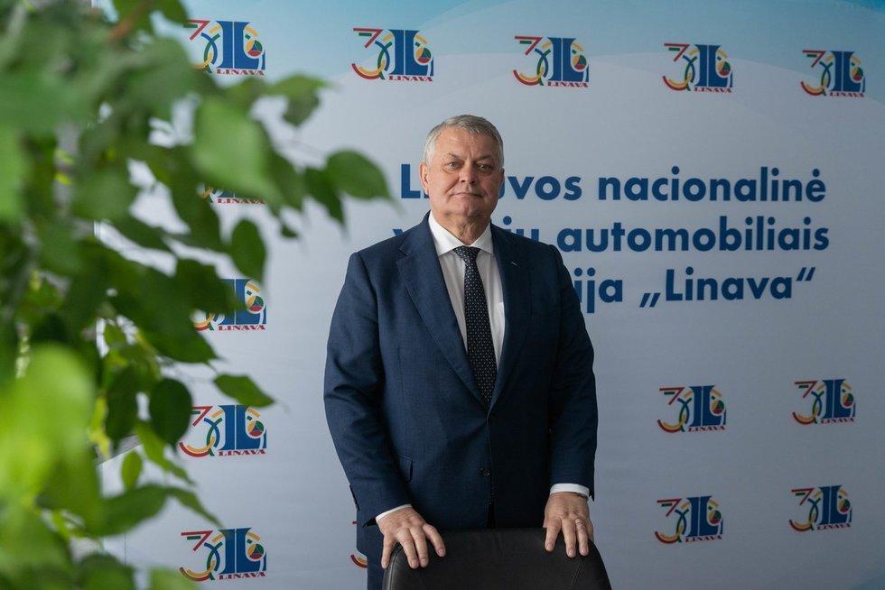 """""""Linavos"""" prezidentas Romas Austinskas"""