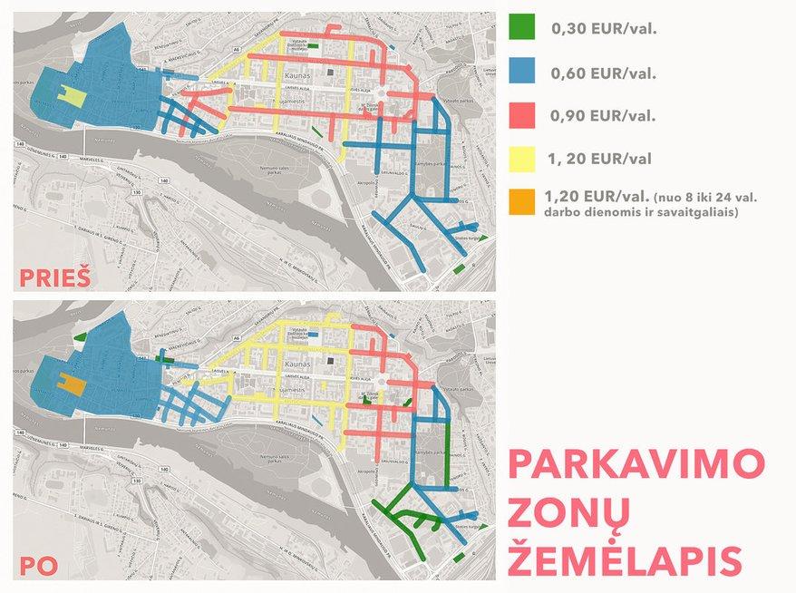 Parkavimo zonos Kaune (nuotr. Kauno savivaldybės)