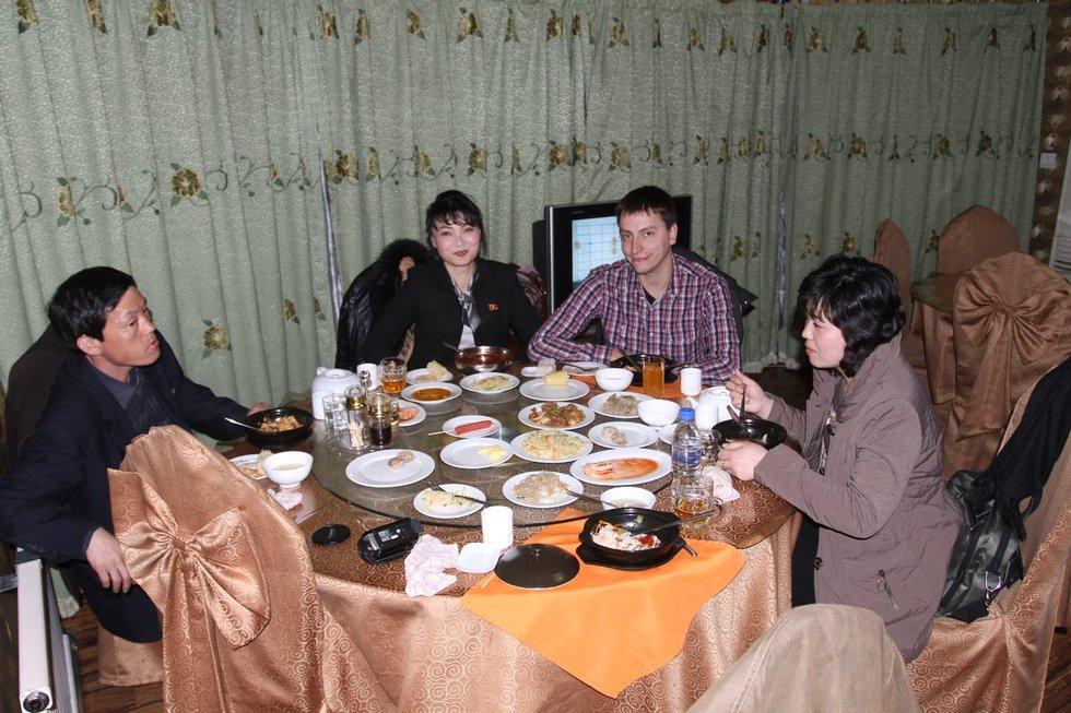 Vytautas Mikaitis Šiaurės Korėjoje (nuotr. asm. archyvo)