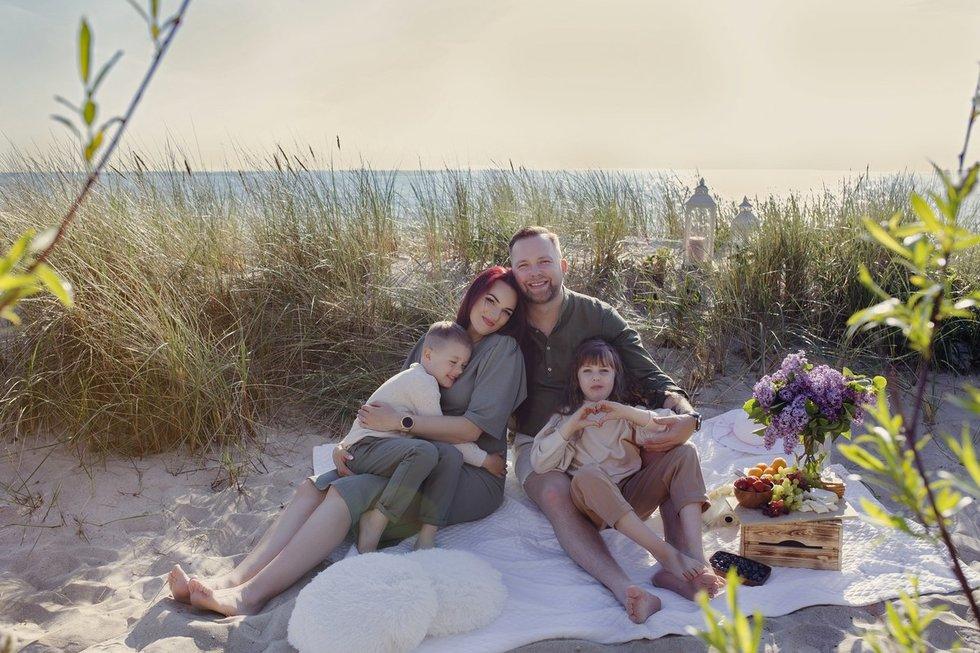 Juozas Butnorius su šeima