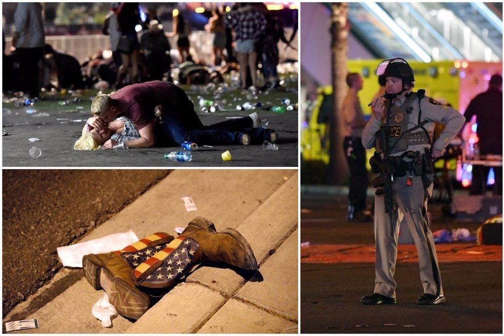 Šaudynės Las Vegase (TV3 koliažas) (nuotr. SCANPIX)